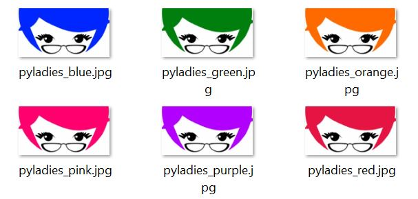 Files for PyLady hair images