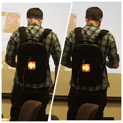 Turn Signal Backpack project